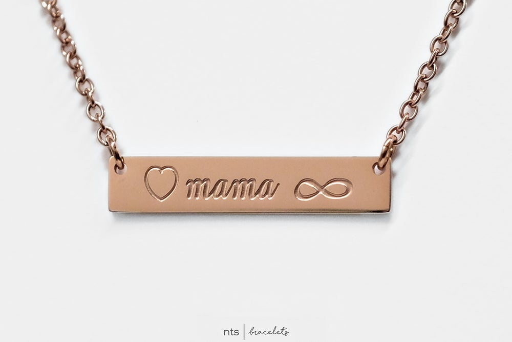 Image of <3 MAMA FOREVER NECKLACE (Rose Gold)