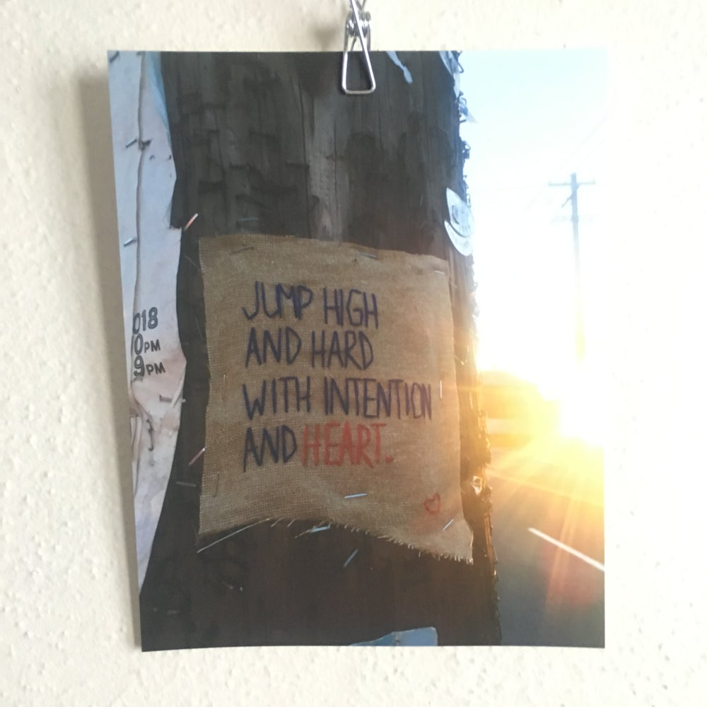 Image of Jump High & Hard Print - Horrible & Wonderful Project Embroidered Street art photo print