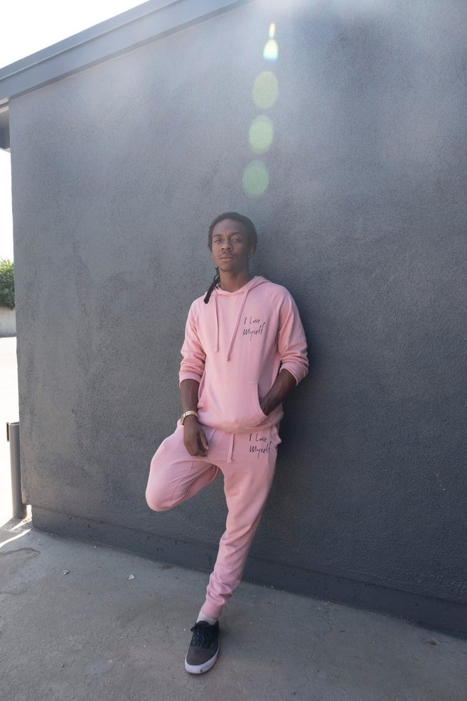 Image of Blush ILoveMyself sweatsuit