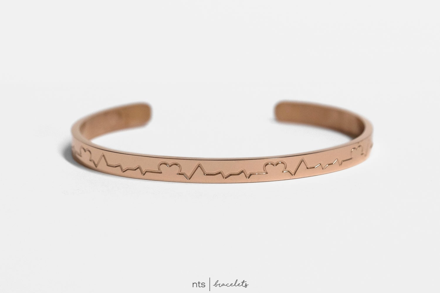 Image of COLLAB BRACELET WITH DR. AUDREY EKG/HEART (LIMITED EDTION + Rose Gold)