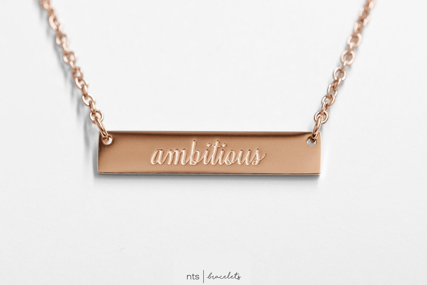 Image of #NTSBABES AMBITIOUS NECKLACE (Rose Gold)