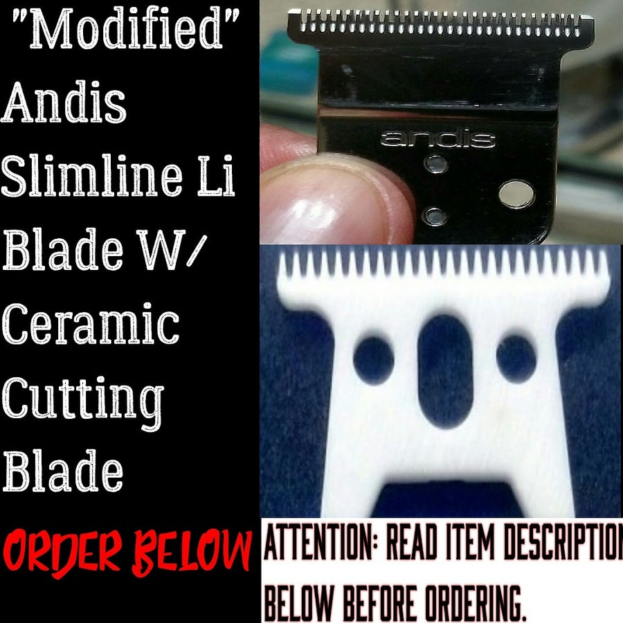 Image of (US & US Territories Only) Modified Andis Slimline Li Blade W/Ceramic T-WIDE Cutting Blade