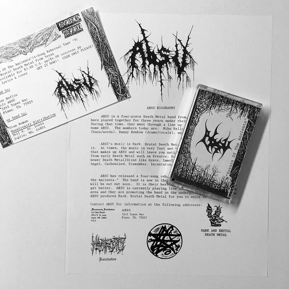 Image of ABSU - RETURN OF THE ANCIENTS DEMO I 1991 CASSETTE