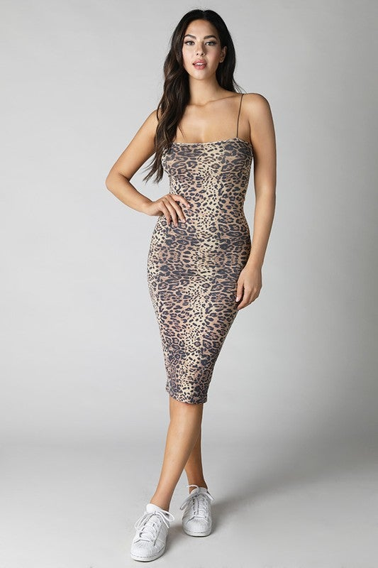 Image of Cheetah Midi Dress