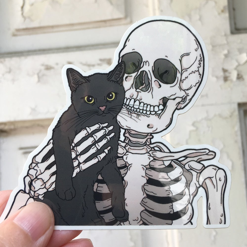 Image of Lil cat friend sticker
