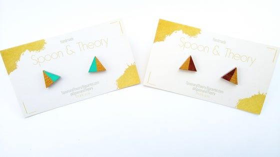 Image of Geometric Pyramid Wood Studs