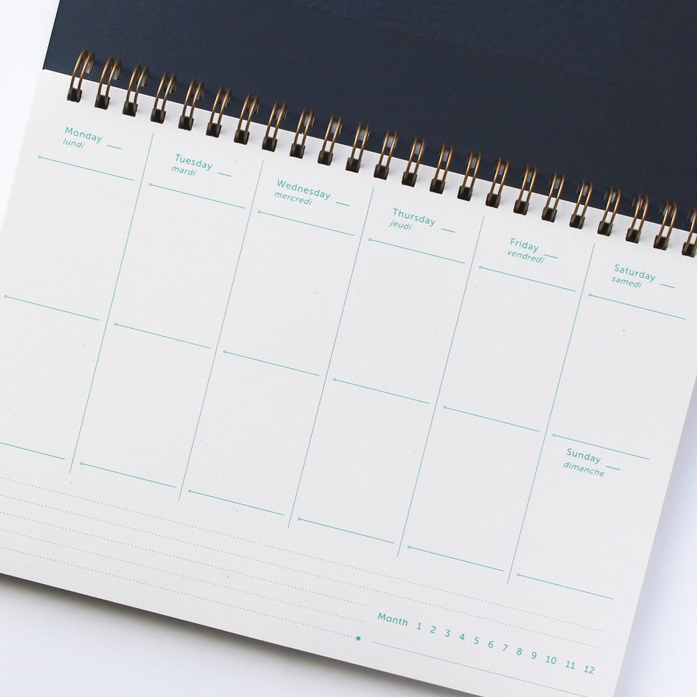 Image of PLANNER / SEMAINIER WAX bleu marine