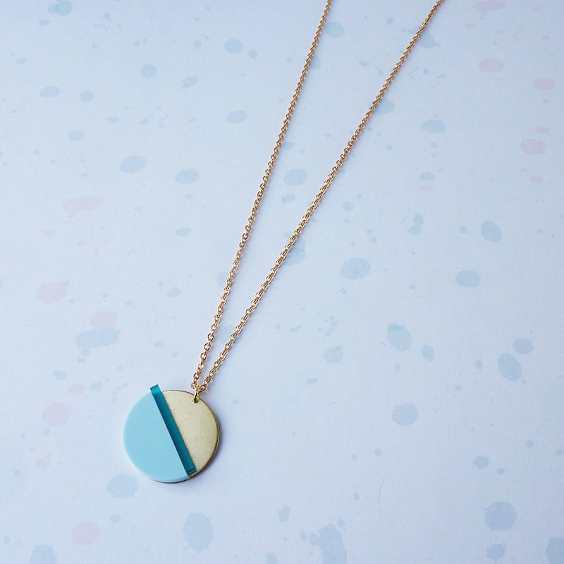 Image of *NEW* Horizon Necklace Teal & Pale Blue