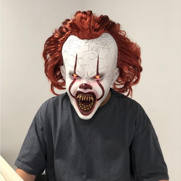 Image of NEW Glowing LED Eyes Stephen King's Chapter 2 It Pennywise Mask Cosplay Halloween