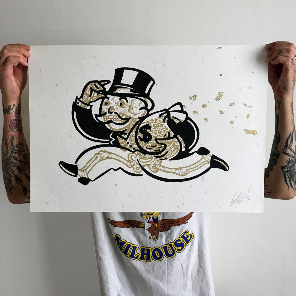 Image of Bonopoly Man (money edition) 42x59cm