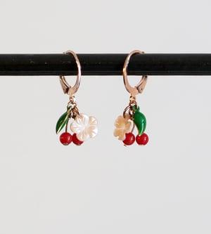 Image of Boucles Fleurs de Cerisier - Doré Or Rose