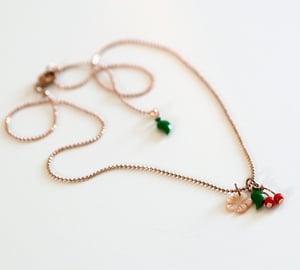 Image of Ras de Cou Fleur de Cerisier - Doré Or Rose
