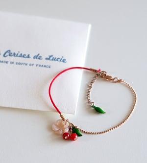 Image of Bracelet Fleur de Cerisier - Doré Or Rose