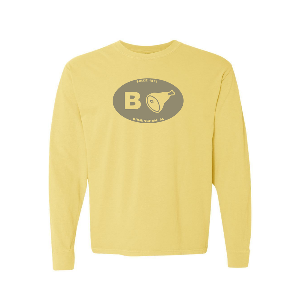 Image of B'ham Comfort Colors L/S Tee Banana