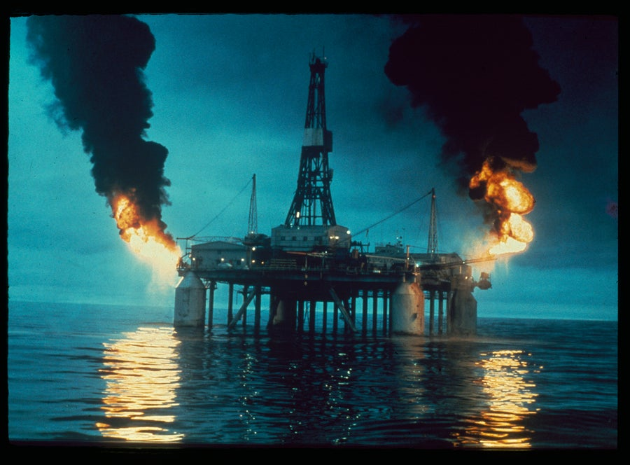 Image of Oil Rig 1970s