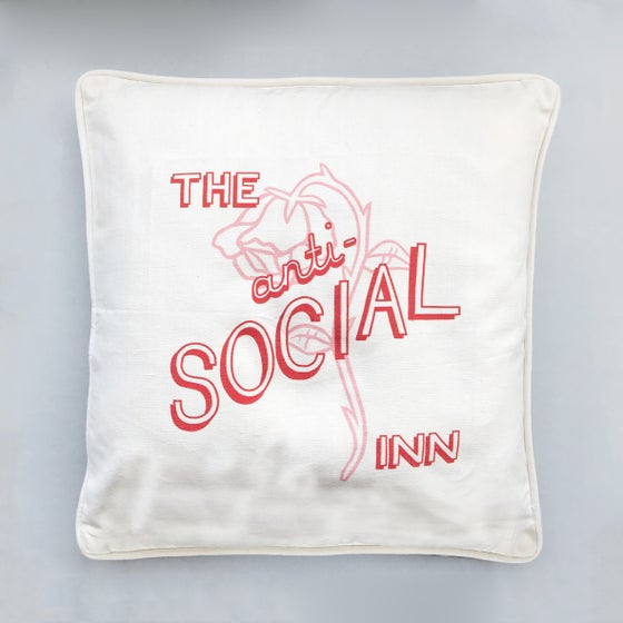 Image of 'Anti-Social Inn' Cushion Cover