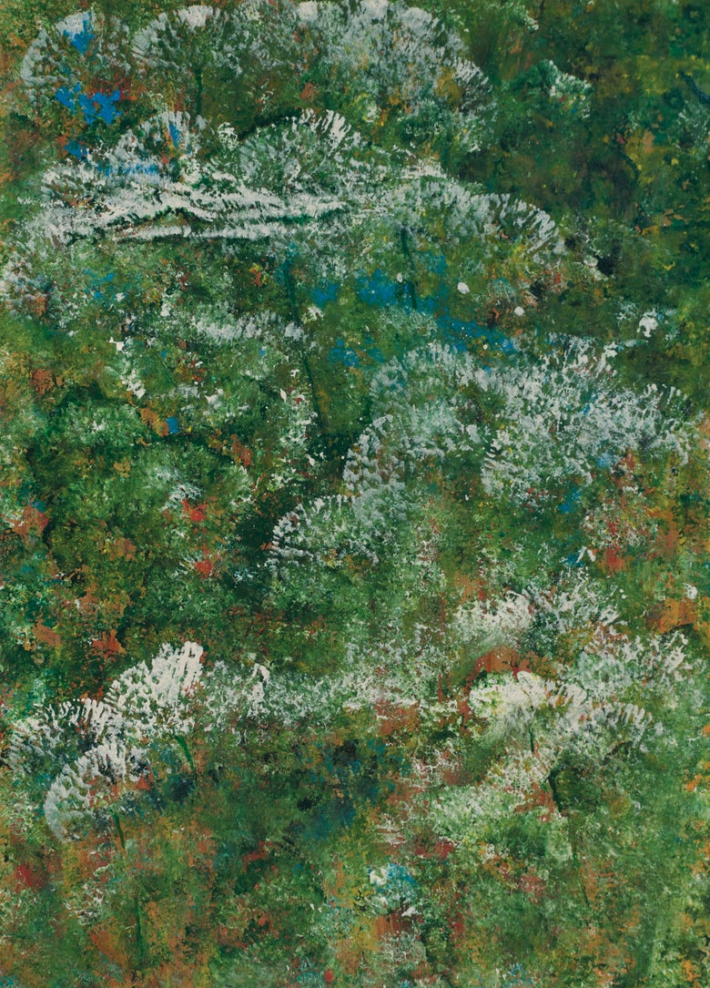 Image of White Wildflowers print