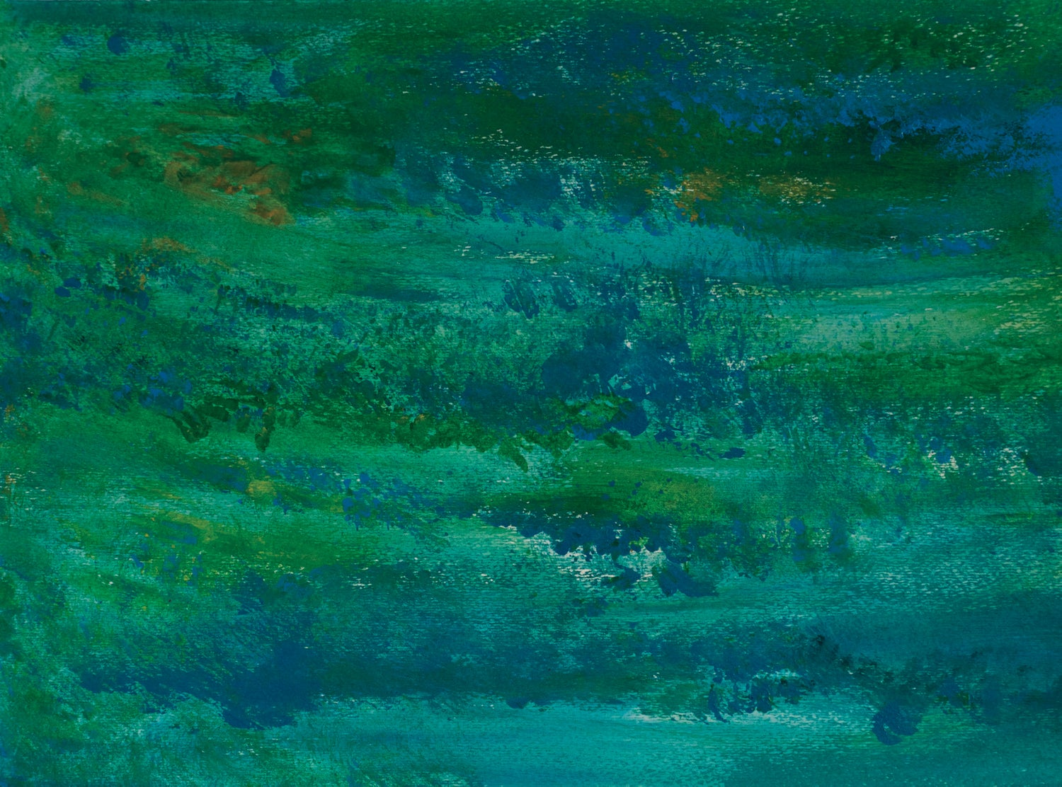 Image of Blue and Green Abstract print