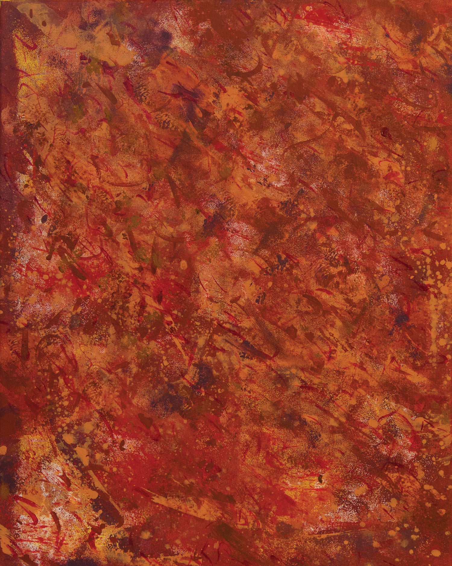 Image of Orange Abstract print