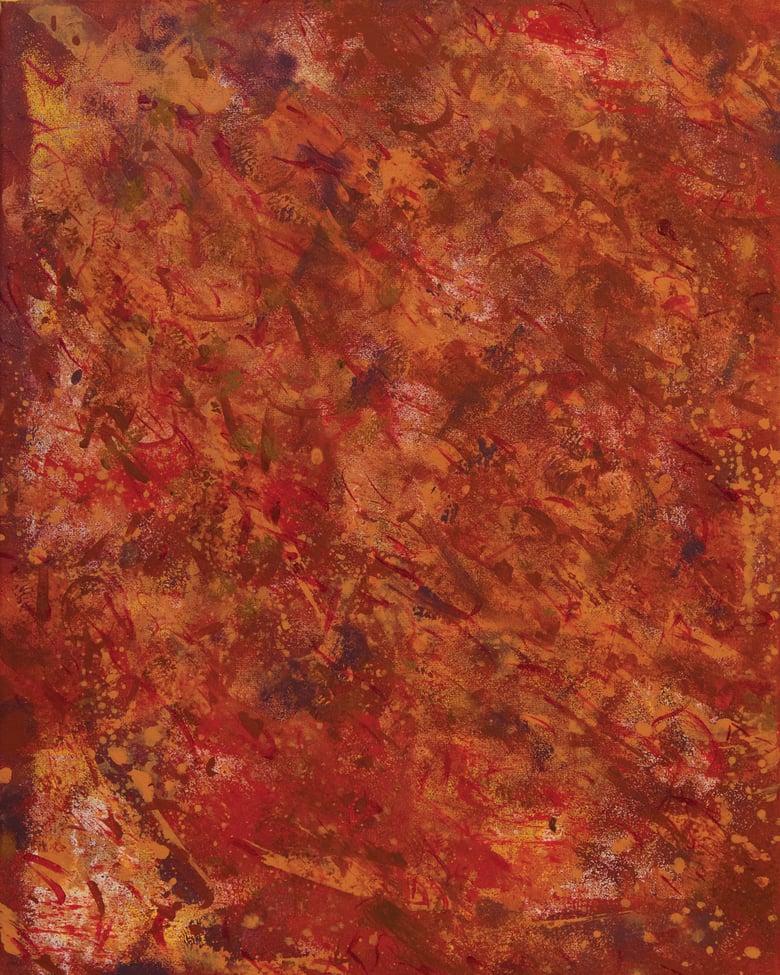 Image of Orange Abstract print