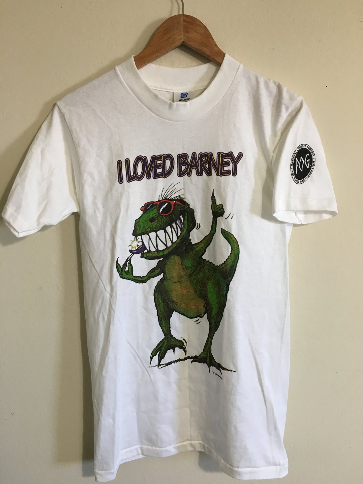1994 I Loved Barney POG Tee