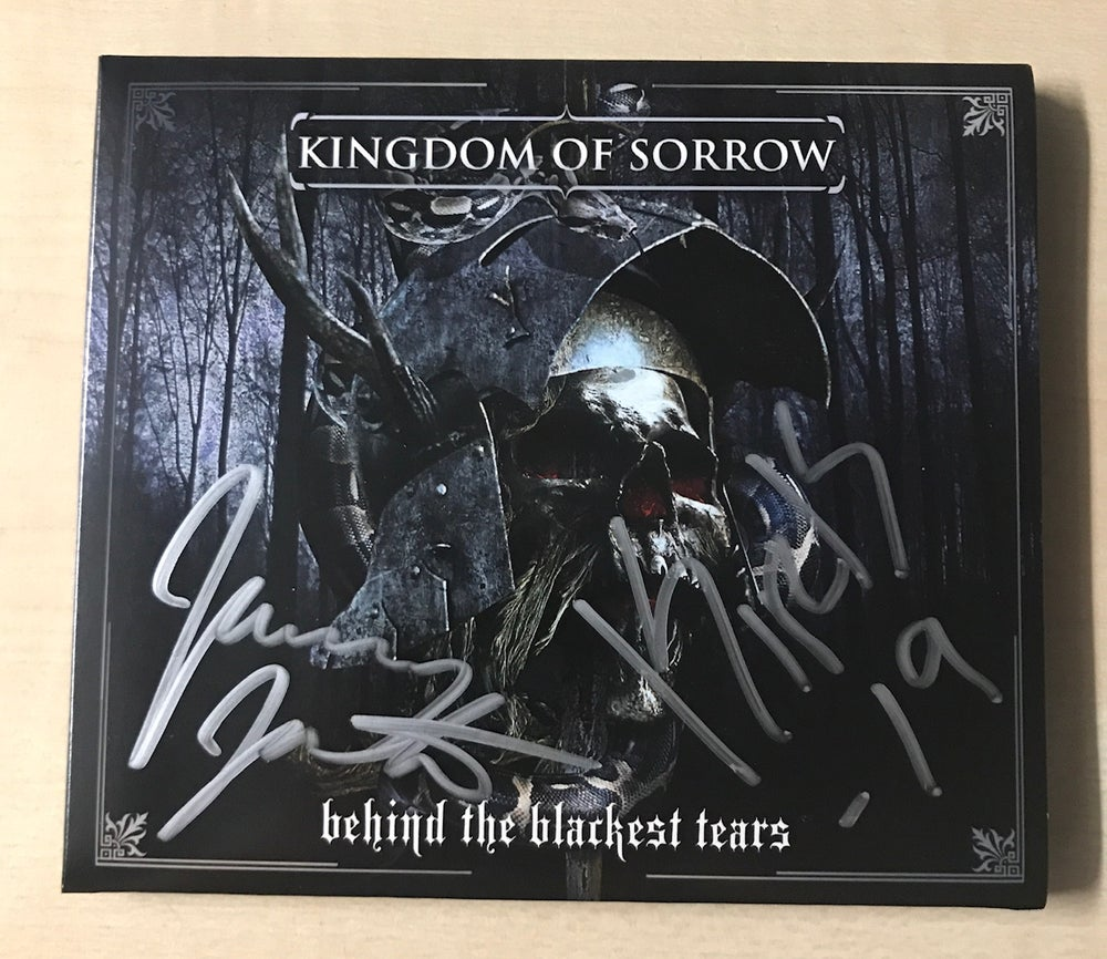 Image of AUTOGRAPHED KINGDOM OF SORROW LP & CDS (Signed by Kirk & Jamey)