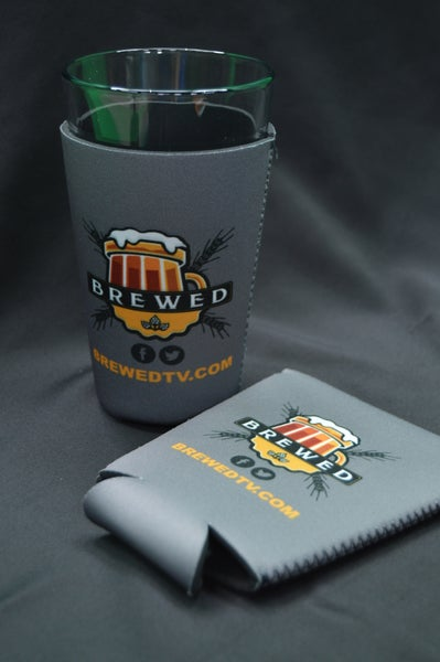 Image of Brewed Pint Glass Koozie