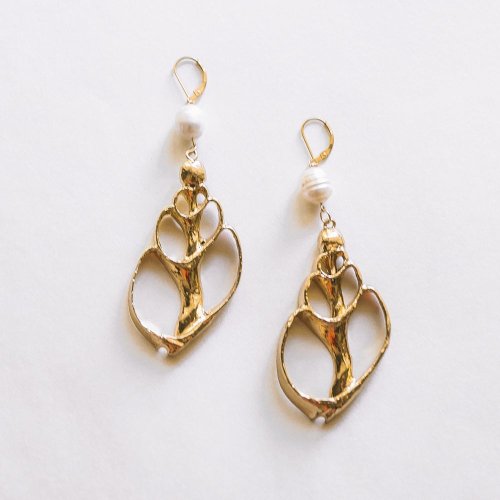 Image of The Gold Shell Earrings