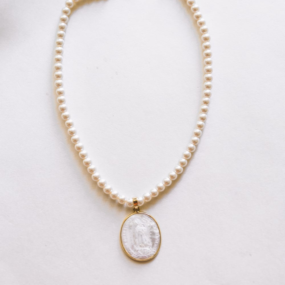Image of The Virgin Maria Pearl Necklace
