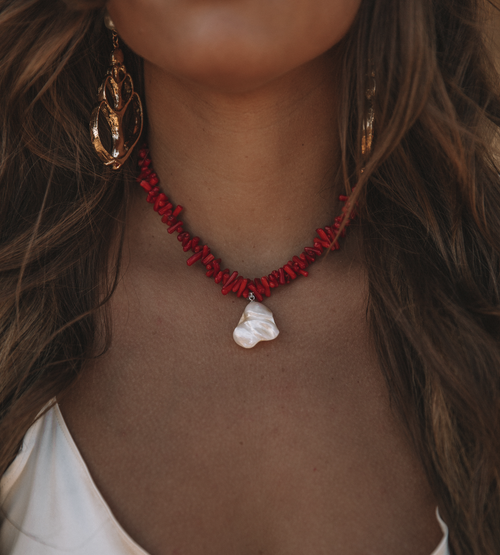 Image of The Red Coral Necklace