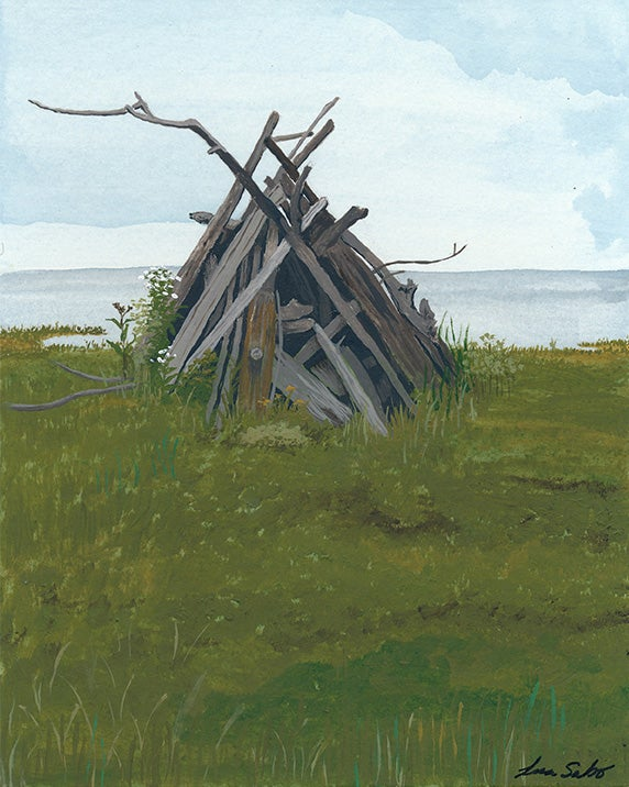 Image of Abandoned Bonfire on the Beach print