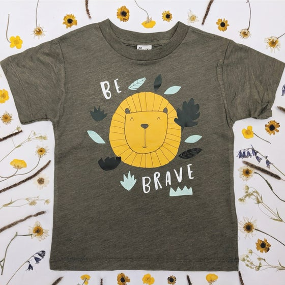 Image of BE BRAVE LION KIDS TEE