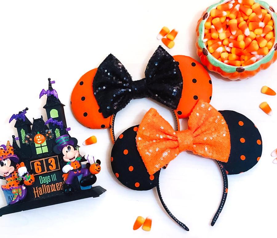 Image of Halloween Polka Dot Ears