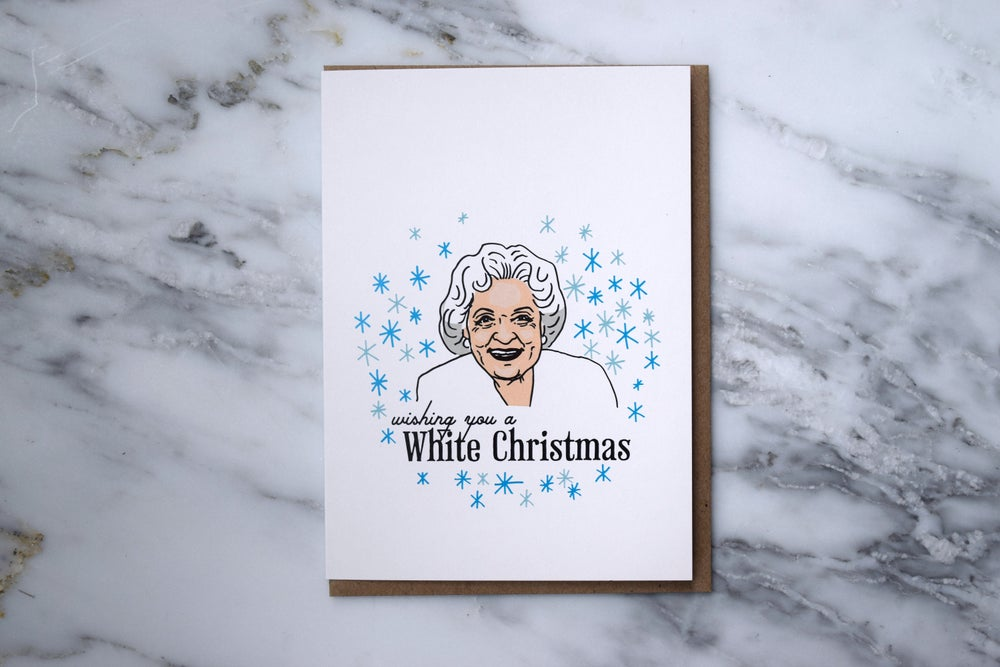 Image of Betty White Holiday Card