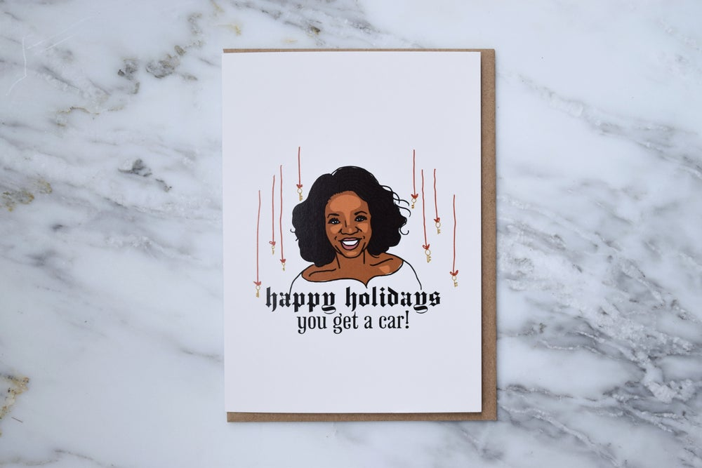 Image of Oprah Holiday Card
