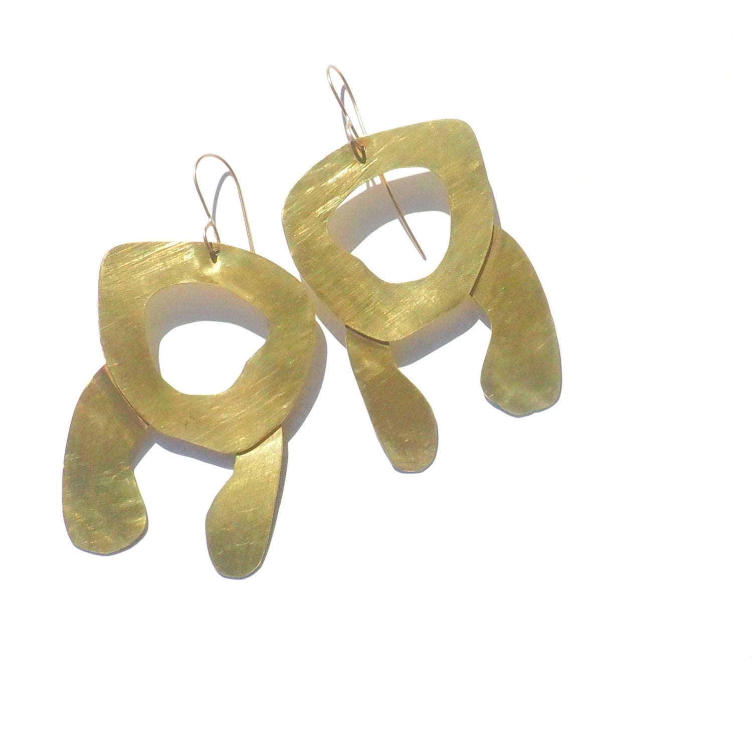 Image of Irregular Brass Shapes Earrings II