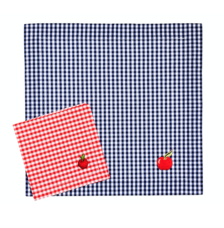 Image of Set tovaglietta + tovagliolo Back to School-Back to school napkin and placemat