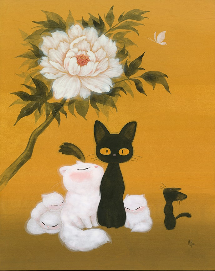 Image of Cats and Peony - Prints