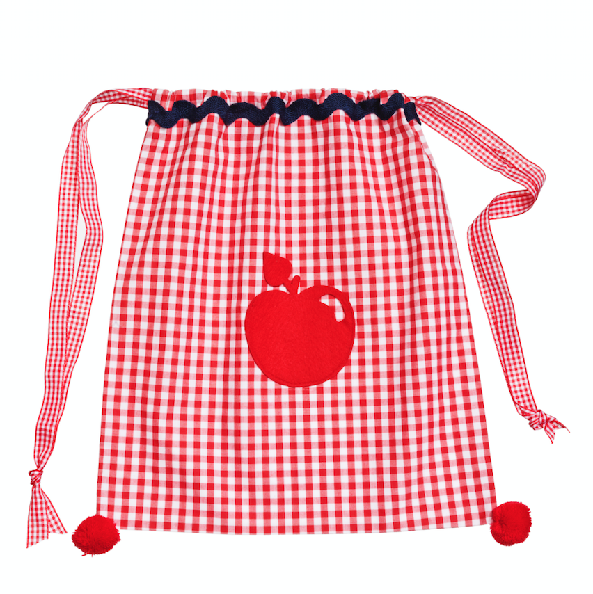 Image of Borsa a sacchetto Back to School - Back to School gingham kids bag