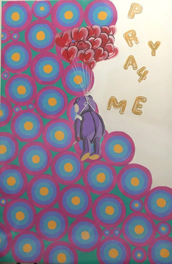 """Image of """"Pray for me"""" Painting"""