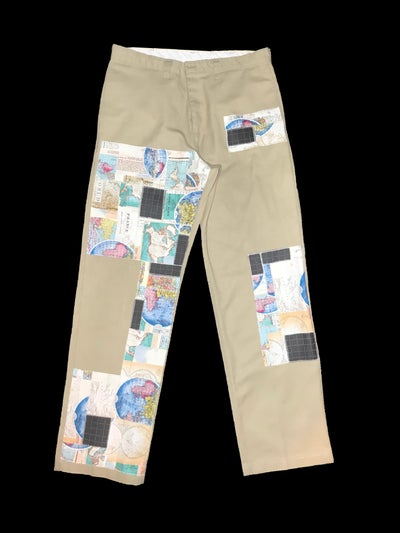 Image of AXECENTS MAP PACK REGULAR FIT WORK PANTS - KHAKI