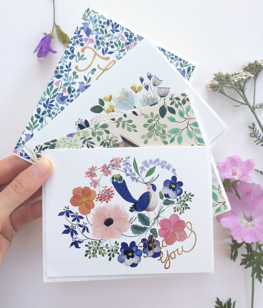 Image of Thank You Greeting Cards, pack of 4