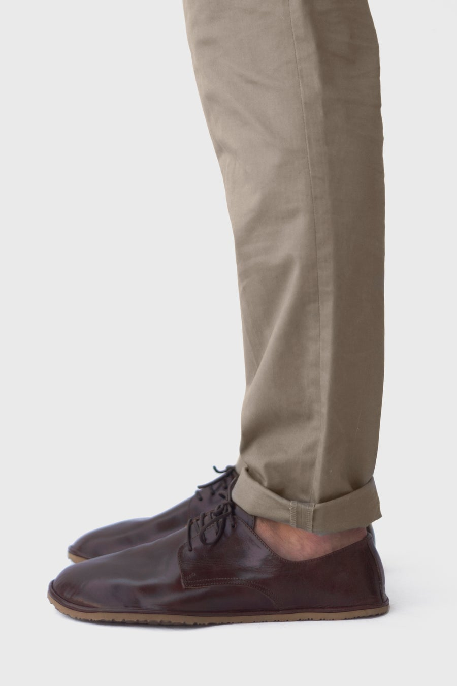 Image of Plain Toe Derby in Lustrous Brown