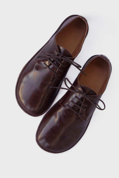 Image of Plain Toe Derby in Glorious Brown