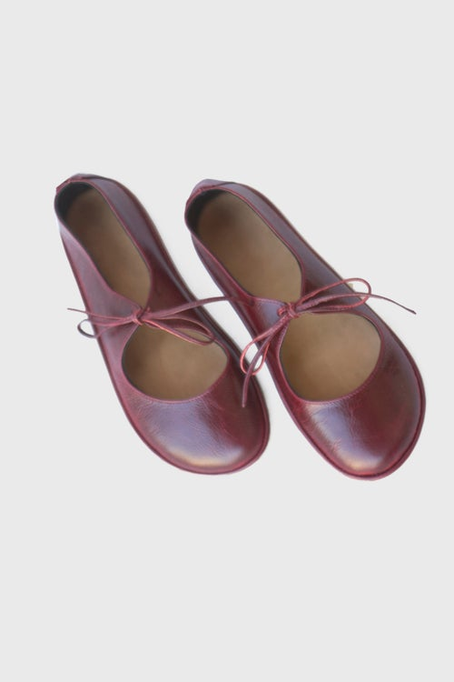 Image of Passion Ballet flats in Vintage Red