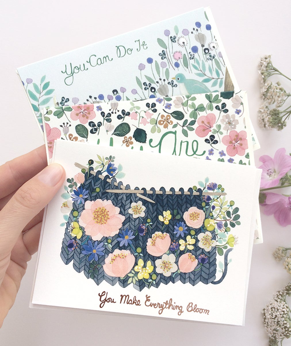 Image of You Can Do It Greeting Cards, pack of 3