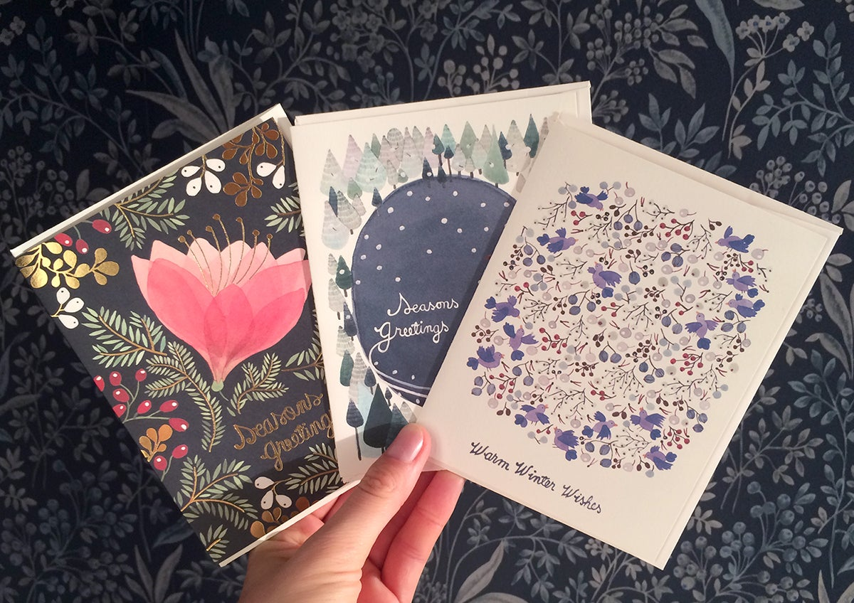 Image of Winter Wishes Greeting Cards, pack of 3