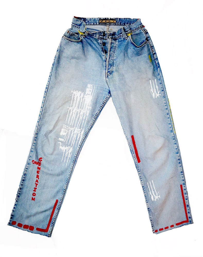 Image of  CUSTOMIZED JEANS