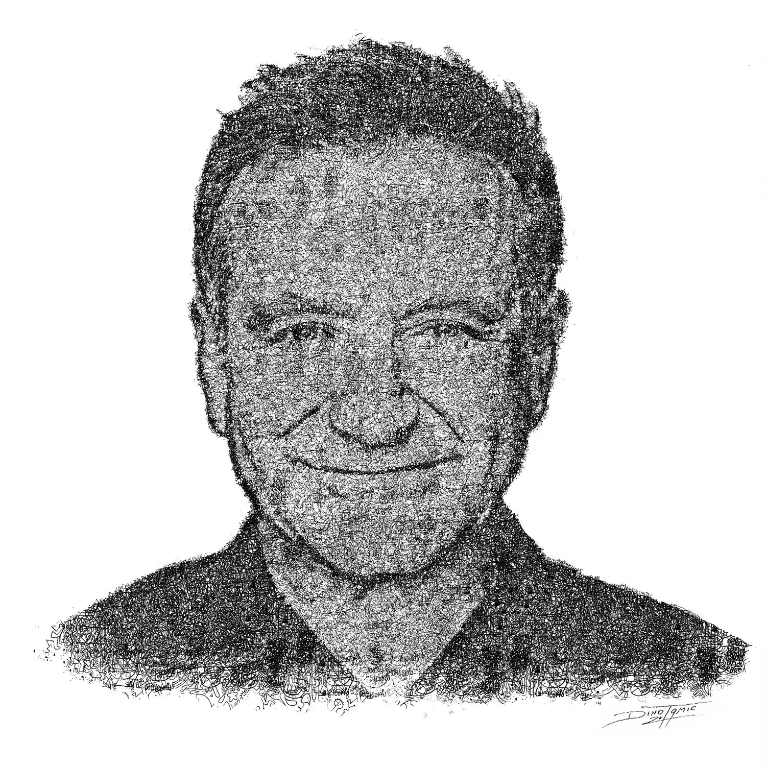 Image of #134 Robin Williams doodle