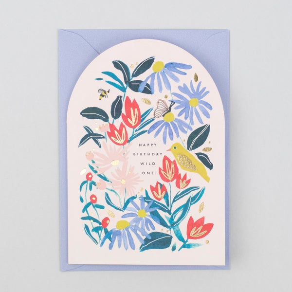 Image of Happy Birthday Wild One Shaped Card
